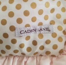 Caden Lane Crib Rail Cover Pink Gold Dot Teething Guard
