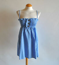 Ladies Atmosphere BNWT Blue Chambray Bandeau Sleeveless Sundress Casual 8 UK
