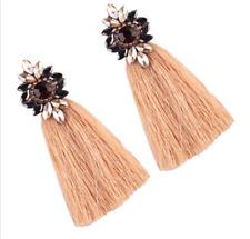 Boho Fringe Drop Christmas Gift Rhinestone Long Tassel Dangle Earrings Women