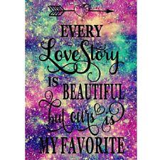New listing 5D Full Drill Diamond Painting Cross Stitch Kit Wall Yarn Decors Love Words Us