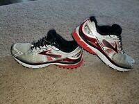 Brooks Ravenna 6 VI Running Athletic Shoes White Red Black - Mens Size 9