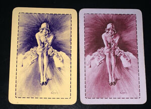 Playing Swap Cards 2 Vintage Flapper Girl Pair