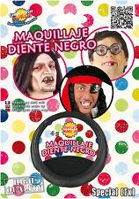 Negro Exterior Missing DIENTE Maquillaje Efectos pirata