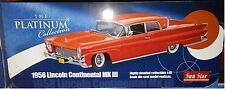 1958 LINCOLN CONTINENTAL MK III Diecast 10 inch SUNSTAR 1:18 PLATINUM SS4711 RED