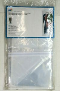 Honey-Can-Do Jumbo Hanging PEVA Storage Closet SFT-01414 Clear Clothes