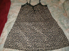 Just love ladies leopard print short night gown size large