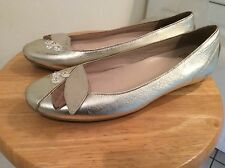 G SERIES COLE HAAN Nike Air Womens 7.5 B Ballet FLATS Gold Leather SHOES