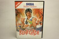 Renegade Sega Master System Retro Game Cartridge PAL Boxed Taito Complete