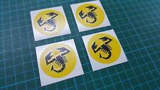 Fiat Abarth 500 Jantes Roue Alliage Centre Cap decals stickers