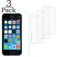 3 Pack Tempered Glass Film Screen Protector Protective Glass For Apple iPhone 5