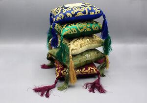 Tibetan Singing Bowl Pillow-Silk Brocade Square Cushions for Singing Bowls