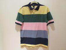 Nwt Boy Polo Ralph Lauren mutil color striped collar short sleeve top Xl(18-20)