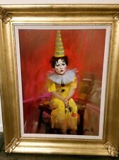 PINO DAENI - TOBY (PINO'S SON) 17 x 23.5 - ORIGINAL OIL CANVAS PAINTING - FRAMED