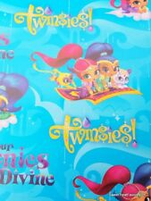 SHIMMER AND SHINE Wrapping Paper Gift Book Cover Party Wrap Princess Genies Girl