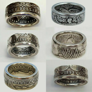 Fashion 925 Silver Handmade Carved Ring Men Best Collecting Vintage Jewelry Gift