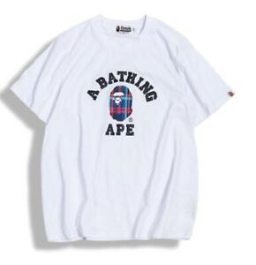 Fashion Men's Mini  icon Round Casual Fashoin T-Shirt white L