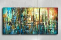 Painting Original Abstract Art Modern Contemporary  Decor Mix Lang cert. unique