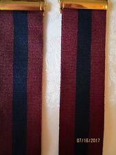 Trafalgar Maroon and Grey Striped Silk Braces Suspenders