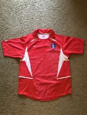 South Korea 2002 2004 Embroidered Football Soccer Home Jersey Shirt Size L Nike