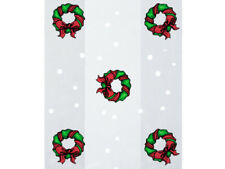 "100 Christmas Holiday Wreath 5x11"" Cello Cellophane Candy Gift Wrap Treat Bags"