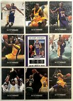 9 Card Lot Kobe Bryant Los Angeles Lakers Panini Contenders Season Ticket