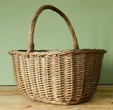 More details for vintage antique wicker shopping basket shabby