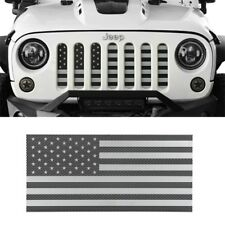 Front Insect Proof Screen USA Flag Grille Insert Mesh Guard For Jeep Wrangler JK