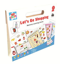Lets Go Shopping List Memory Board Game Childrens Educational Toy 2-4 Players AK