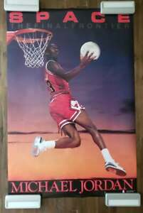 "Michael Jordan Costacos Poster SPACE THE FINAL FRONTIER 24""x36"". NM"