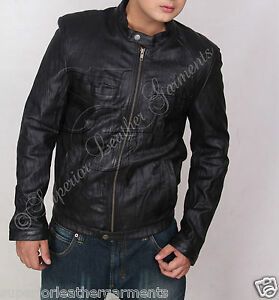 Zac Efron 17 Again Oblow Wrinkled Washed Real Leather Jacket