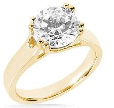 2.02 ct Round Diamond Engagement Wedding Solitaire Ring 14k Yellow Gold G SI2