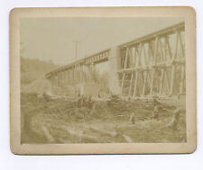 1870's-1890's CABINET PHOTO RAILROAD BRIDGE TO GOLD OR SILVER MINE