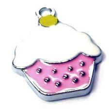 5 PEZZI 16X21mm Cupcake Lega Zinco Smalto Ciondolo Ciondoli-A8104