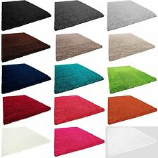 Shaggy chambre tapis vivant de tapis tapis à longs poils monochrome VIVA 153