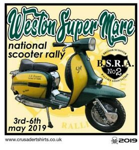 2019 WESTON SCOOTER RALLY RUN  PATCH BSRA MODS SKINHEADS not PADDY SMITH