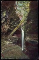 New York, Watkins Glen Cavern Cascade unposted Vintage Postcard ny13