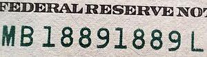 2013 FRN New York, NY 100 dollar FANCY TRUE REPEATER note MB18891889L