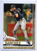 YOLMER SANCHEZ 2019 Topps Series 1 Gold Parallel WHITE SOX (#308) 1530/2019