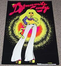 DYNAMITE LADY Sexy Blonde 70's Hot Babe Girl Blacklight Poster OSP 1973 Petagno