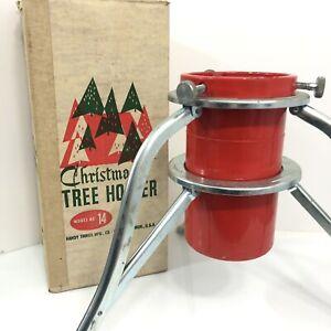 Christmas Tree Stand Holder Tripod Easy Set Aluminum Vintage Handy Things Co USA