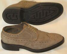 099aa6fc57ea Joseph Abboud Brown Suede Wing Tip Oxfords Dress Shoes Sz 10.5 D