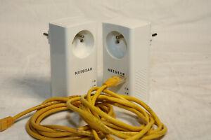 Pack de 2 CPL Netgear plp1200S Powerline Adaptateur Réseau 1200 Mbits/s