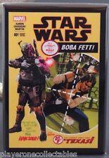 """Star Wars #1 Boba Fett Variant Comic Book - 2"""" X 3"""" Fridge Magnet. Han Solo"""