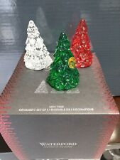 Waterford Colour Christmas Trees Mini Ornament Set of 3 New #40003137