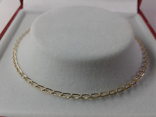 Link Anklet. Hallmarked. 9.5 inch. 9ct Gold Ladies Solid Curb