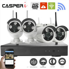 CASPERi 2MP Surveillance Kit 4CH Wireless 1080P NVR CCTV Wifi Camera In/Outdoor