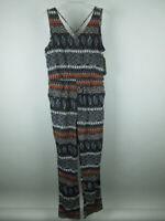 Vintage USA NEW Women's sz L Polyester Aztec Paisley Multi Color Jumpsuit