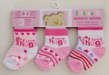Chaussettes rose pour fille de 0 à 24 mois, taille 0 - 3 mois