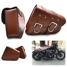 US 2X Motorcycle Side Saddle Bag For Harley Sportster XL883/1200 Left,Right Side
