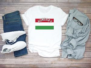 Hungary Football Soccer World Country Short Sleeve White Men T shirt